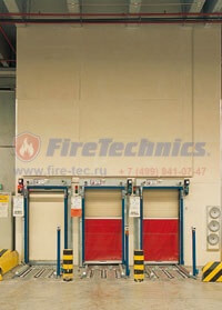 Огнезащитные преграды конвейерных проёмов