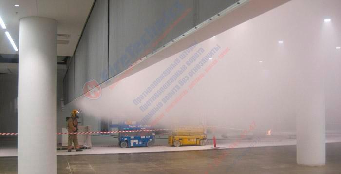 дымозащитные шторы fireshield